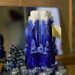candele intagliate a mano